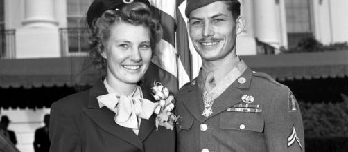 Desmons Doss con la moglie